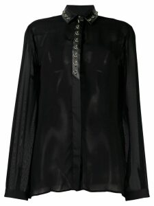 Just Cavalli ring embellished blouse - Black