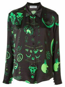 Marine Serre mystical print shirt - Green