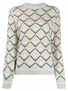 Barrie geometric jacquard jumper - Grey