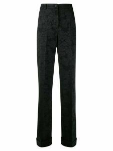 Dolce & Gabbana high waisted jacquard trousers - Black