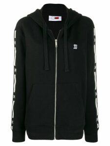 Tommy Hilfiger logo print band hoodie - Black