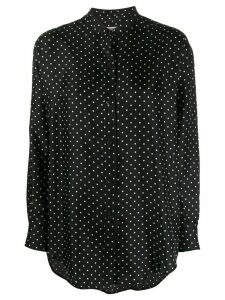 Alberto Biani polka-dot loose shirt - Black