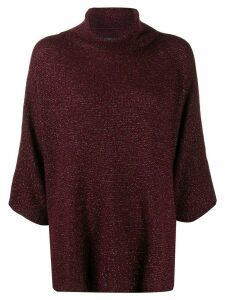 Etro metallic knit roll-neck jumper - Red