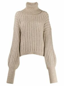 Uma Wang ribbed turtleneck jumper - NEUTRALS