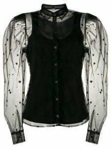 P.A.R.O.S.H. tulle sleeve shirt - Black