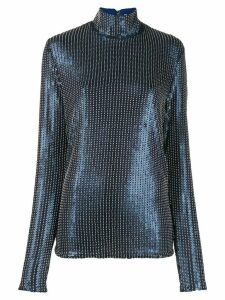 Palomo Spain sequin embellished top - Blue