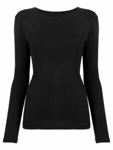 Yohji Yamamoto long-sleeve T-shirt - Black