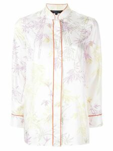 Shanghai Tang twill shirt with candy bamboo print - White