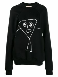 Plan C scribble print sweatshirt - Black