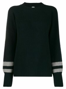 Eleventy ribbed stripe-cuff sweater - Blue