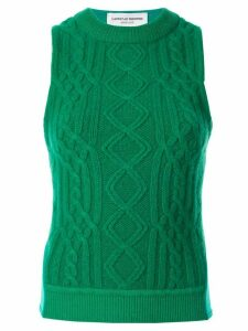 Marine Serre cable-knit tank top - Green