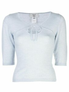 Maryam Nassir Zadeh tie neck sweatshirt - Grey