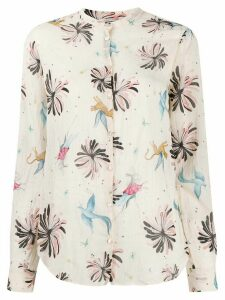 Forte Forte Fiaba-print loose-fit shirt - NEUTRALS