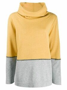 Fabiana Filippi two-tone cowl-neck jumper - Yellow