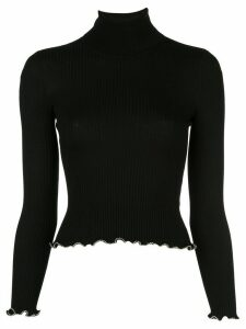 Alexander Wang stretch fit turtle neck sweater - Black
