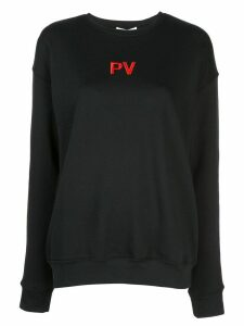 Priscavera embroidered logo jumper - Black