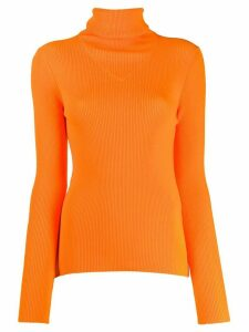 MSGM ribbed knit top - ORANGE