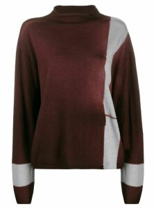 Suzusan funnel neck sweater - Brown