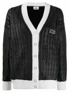 Gcds metallic cable knit cardigan - Black