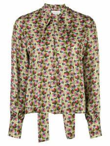 Alexis Londyn geometric-print blouse - Green