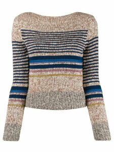 See By Chloé horizontal stripes jumper - Brown
