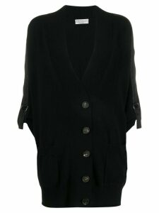 Brunello Cucinelli chain trim cardigan - Black