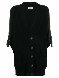 Brunello Cucinelli chain trim cardigan - Black