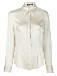 Dolce & Gabbana pointed collar shirt - NEUTRALS