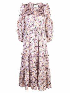 Alexis Isbel floral-print dress - PURPLE