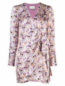 Alexis Kari floral-print wrap dress - PURPLE