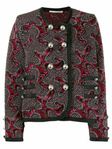 Marco De Vincenzo embroidered fitted cardigan - Pink