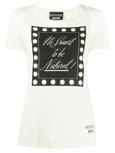 Boutique Moschino It's Smart To Be Natural T-shirt - White