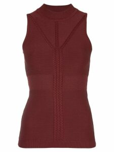 Cushnie sleeveless fitted top - Red