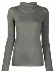 Fabiana Filippi cowl neck knitted top - Grey