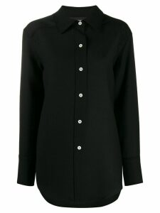 Courrèges plain oversized shirt - Black