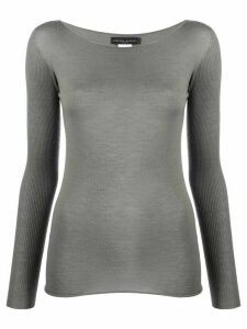 Fabiana Filippi ribbed sleeves jumper - Grey