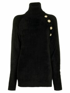 Balmain decorative buttons oversized jumper - Black