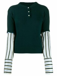 Jejia layered knit jumper - Green