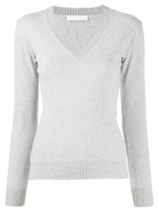 Fabiana Filippi fitted v-neck jumper - Grey
