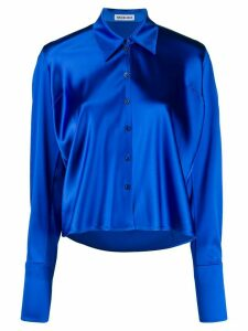 Balenciaga tilted satin shirt - Blue