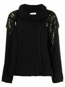 Twin-Set beaded jumper - Black