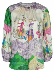 Tsumori Chisato embroidered long-sleeve blouse - Multicolour