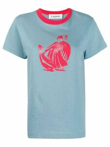 LANVIN Mother and Child motif T-shirt - Blue