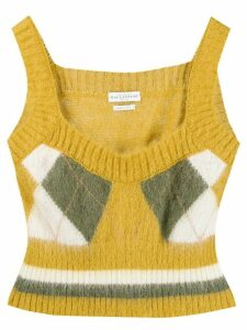 Ballantyne argyle knit top - Yellow