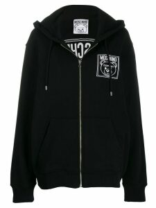 Moschino Logo zip-up sweatshirt - Black