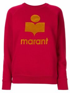 Isabel Marant Étoile Milly logo print sweatshirt - Red