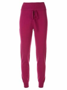 Live The Process knitted drawstring track pants - Purple