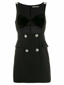 Alessandra Rich sweetheart neck dress - Black