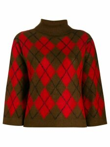 PS Paul Smith Argyle pattern jumper - Red