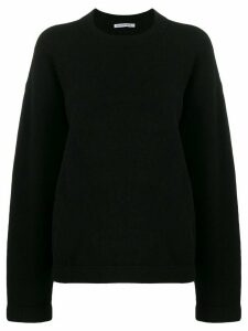 Alexander Wang oversized long-sleeve jumper - Black